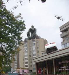 Кинг Конг на 9-этажке