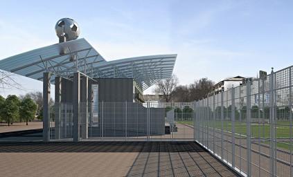 Футбольная гостиница и стадион