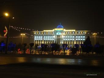 Областной акимат с подсветкой
