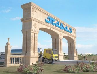 Въездная арка в г.ТАРАЗ