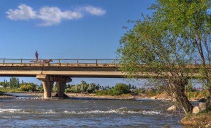 р. Талас. Мост объездной дороги.